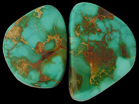 Royston Turquoise with typical olive green characteristics