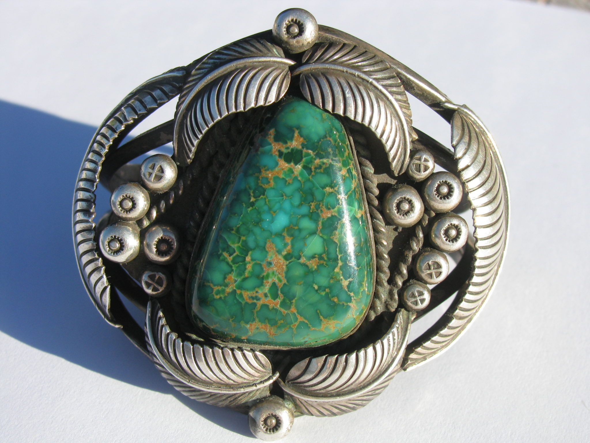 Carico Lake Turquoise in sterling cuff