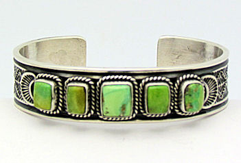 Orvil Jack Turquoise in sterling cuff
