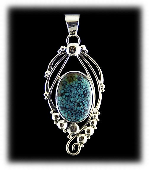 indian mountain turquoise cabochon