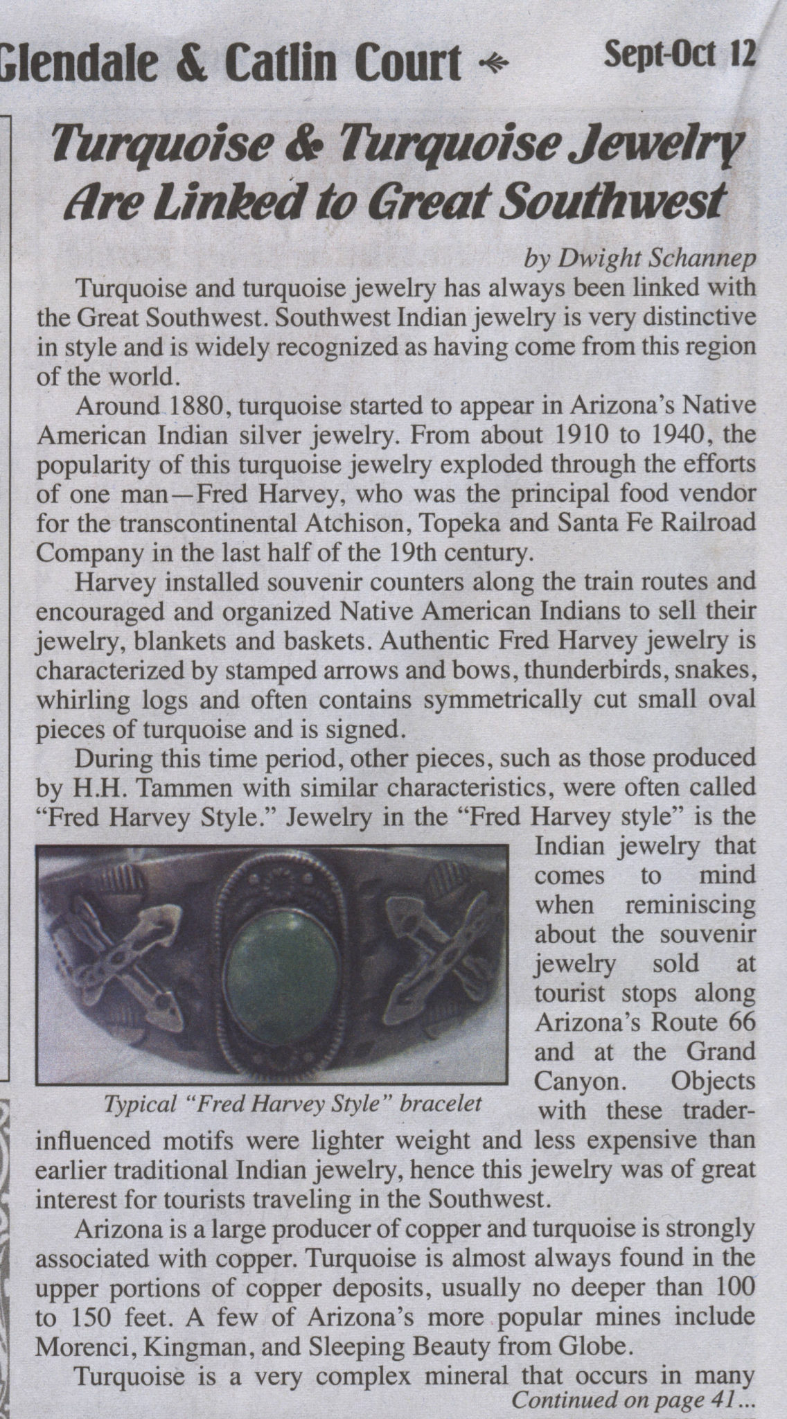 Tucson Turquoise featured in the Antique Register