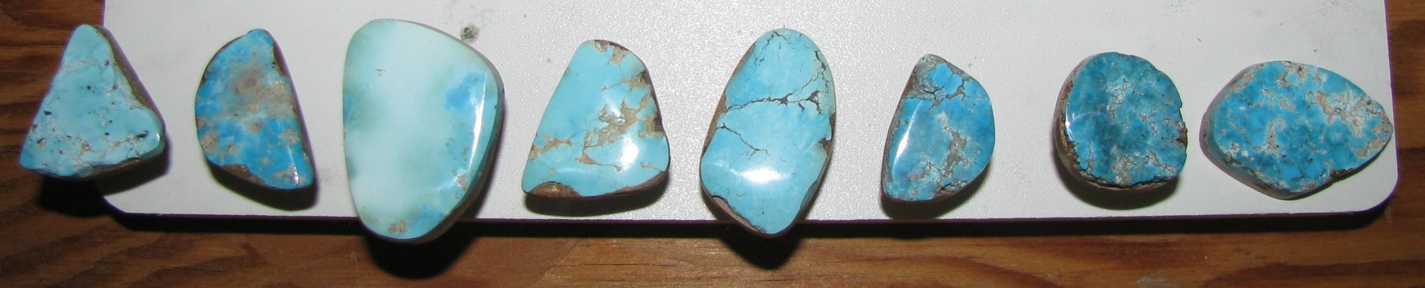Same Morenci Turquoise stones featured above...only polished