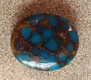 Bisbee Turquoise? Candeleria Turquoise? No...this turquoise comes from Egypt