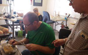 Sam Patania supervises Dwight of Tucson Turquoise