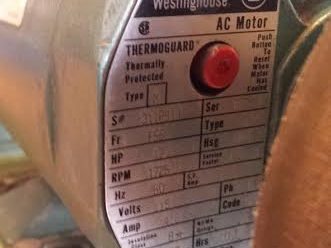 Westinghouse Thermoguard motor
